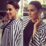 Neha Dhupia in Bodice and Raw Mango on 15th May 2016