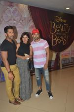 Gurmeet Chaudhary, Debina Banerjee, Terence Lewis at Beauty and Beast screening in Mumbai on 15th May 2016