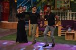 Kapil Sharma and Raveena Tandon teaching Bollywood Dance to DJ Dwayne Bravo on the sets of Sony Entertainment Television
