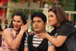 Farah Khan and Sania Mirza on the set of The Kapil Sharma Show in Mumbai on 18th May 2016