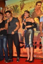 Varun Dhawan and Jacqueline Fernandez at the Trailer Launch of Dishoom in Mumbai on 1st June 2016