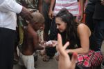 Lauren Gottlieb snapped interacting with street kids on 9th June 2016
