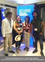 Satish Reddy Managing Director of World News Network, French Producer Sonia Zhang, Actress Avika Gor With Manish Raisinghan_575bd302df7fa.jpg
