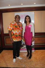 Former Indian cricket player Vinod Kambli with Global Wellness ambassador Rekha Chaudhari during the Global Wellness Day celebration, in Mumbai, India on June 11, 2016 (4)_575d24d543a50.JPG
