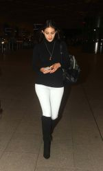 Amyra Dastur carrying a Perse by Stuffcool back pack at the airport on 13th June 2016