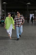 Govinda with wife Sunita Ahuja snapped at Airport on 13th June 2016
