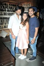 Anand Mishra with Sana Khan and Suyyash Rai at Sana Khan