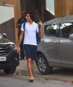 Saif Ali Khan snapped with his kids Ebrahim and Sara on 15th June 2016