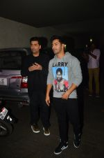 Karan Johar, Varun Dhawan at Udta Punjab screening hosted by Alia Bhatt in Lightbox on 16th June 2016