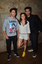 Karan Johar, Varun Dhawan, Alia Bhatt at Udta Punjab screening hosted by Alia Bhatt in Lightbox on 16th June 2016
