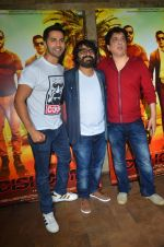 Varun Dhawan, Sajid Nadiadwala , Pritam Chakraborty at song launch from movie Dishoom in Mumbai on 16th June 2016 (42)_576397314deab.JPG