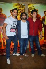 Varun Dhawan, Sajid Nadiadwala , Pritam Chakraborty at song launch from movie Dishoom in Mumbai on 16th June 2016 (44)_57639763a5e02.JPG