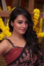 Anita Hassanandani Reddy at An Ode To Weaves and Weavers Fashion show at HICC Novotel, Hyderabad
