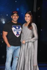 Salman Khan and Anushka Sharma during Sultan movie promotion on the sets of Sa Re Ga Ma Pa on June 21, 2016