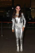 Urvashi Rautela in silver outfit at airport on June 17, 2016