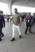 John Abraham at the airport on June 24, 2016