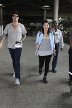 Sunny Leone with husband Daniel Weber at the airport on June 24, 2016
