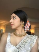 Divya Khosla  Spotted wearing a gorgeous cream lehenga by ace designer Vikram Phadnis and Jewellery by Shobha Shringar  (1)_5770a16830b42.JPG