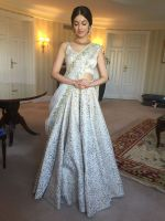 Divya Khosla  Spotted wearing a gorgeous cream lehenga by ace designer Vikram Phadnis and Jewellery by Shobha Shringar  (5)_5770a177b2243.JPG