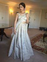 Divya Khosla  Spotted wearing a gorgeous cream lehenga by ace designer Vikram Phadnis and Jewellery by Shobha Shringar  (6)_5770a17ca28b0.JPG