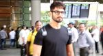 Shahid Kapoor snapped at the airport on June 26, 2016