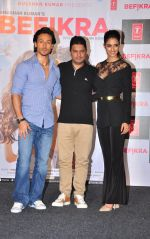Tiger Shroff, Disha Patani, Bhushan Kumar at Befikra song launch in Mumbai on 28th June 2016