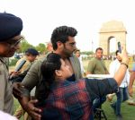 Arjun Kapoor at Road Safety Awareness Campaign in India Gate, New Delhi on 28th June 2016