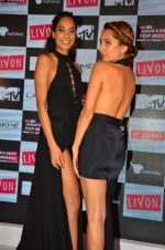 Lisa Haydon, Anusha Dandekar at the Launch of MTV_s India_s Next Top Model Hunt Season 2 in The Leela Hotel on 30th June 2016 (1)_57761813941f6.JPG