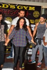 John Abraham and Varun Dhawan at gold gym in Mumbai on 9th July 2016