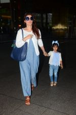 Twinkle Khanna returns from holidays in Mumbai on 10th July 2016