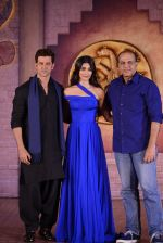 Hrithik Roshan, Pooja Hegde, Ashutosh Gowariker at Mohenjo Daro film launch in Mumbai on 12th July 2016