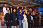 Hrithik Roshan, Pooja Hegde, Ashutosh Gowariker, Sunita Gowariker, Siddharth Roy Kapoor, A R Rahman, Bhushan Kumar at Mohenjo Daro film launch in Mumbai on 12th July 2016 (14)_5785323ecf4ff.JPG