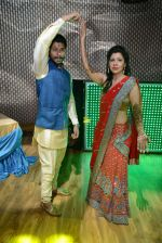 Sambhavna Seth with Avinash during the Wedding Mehandi Function at Sky Bar Rajori Garden in New Delhi on 13th July 2016