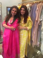 Dimple Kapadia and Twinkle Khanna at the launch of FANTASTIQUE by Abu Sandeep on 15th July 2016_578925eceb3cc.jpg