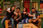 Jacqueline Fernandez, John Abraham, Varun Dhawan promote Dishoom on the sets of The Kapil Sharma Show on 17th July 2016