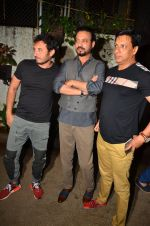 Homi Adajania, Irrfan Khan, Madhur Bhandarkar at Madaari screening in Mumbai on 19th July 2016