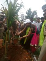 Lakshmi Manchu at Participated Haritha Haram in Sher Bashirbagh PS Near Suchitra on 19th July 2016