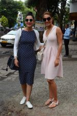 Caterina Mourino, Gauhar Khan snapped outside Japanese Restaurant on 24th July 2016