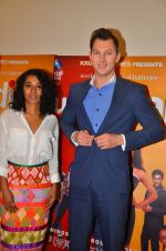 Brett Lee and Tannishtha Chatterjee promote their upcoming film Unindian on 26th July 2016