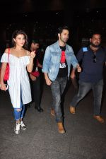 Jacqueline Fernandez, Varun Dhawan snapped at airport on 27th July 2016