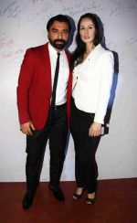 Ajaz Khan with his wife at the red carpet of the post wedding celebrations of Sambhavna & Avinash at Bora Bora_579b84cb82598.jpg