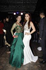 Sambhavna & Sana Khan at the red carpet of the post wedding celebrations of Sambhavna & Avinash at Bora Bora_579b85d6199cb.JPG