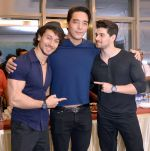 tiger shroff,Rinzing denzongpa ,sooraj pancholi at Dishoom screening in yashraj, Mumbai on 28th July 2016._579afecd5335f.jpg