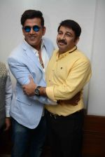 Ravi Kishan, Manoj Tiwari during the Press confrence of Luv Kush biggest Ram Leela at Constitutional Club, Rafi Marg in New Delhi on 31st July 2016(39)_579e0289c3e6a.jpg