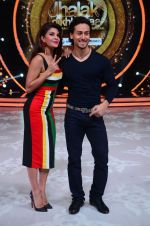Jacqueline Fernandez and Tiger Shroff during the promotion of film A Flying Jatt on the sets of reality dance show Jhalak Dikhhla Jaa season 9 in Mumbai, India on August 2 2016 (1)_57a09e00f26f6.jpg