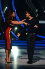 Jacqueline Fernandez and Tiger Shroff during the promotion of film A Flying Jatt on the sets of reality dance show Jhalak Dikhhla Jaa season 9 in Mumbai, India on August 2 2016