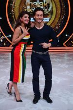 Jacqueline Fernandez and Tiger Shroff during the promotion of film A Flying Jatt on the sets of reality dance show Jhalak Dikhhla Jaa season 9 in Mumbai, India on August 2 2016 (4)_57a09e022b6af.jpg