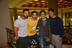 Varun Dhawan, Sajid Nadiadwala, John Abraham promote Dishoom on 1st Aug 2016 (8)_57a0160cb0be7.JPG