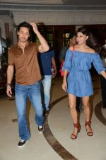 Tiger Shroff and Jacqueline Fernandez during the audio launch of Beat Pe Booty song from film A Flying Jatt at the Radio City Studios in Mumbai, India on August 3, 3016 (1)_57a1d52a48fda.jpg