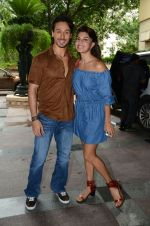 Tiger Shroff and Jacqueline Fernandez during the audio launch of Beat Pe Booty song from film A Flying Jatt at the Radio City Studios in Mumbai, India on August 3, 3016